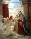 Tajemnica Radosna - Zwiastowanie Maryi, ze jest Matka Syna Bozego